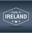made in ireland hexagonal white vintage label vector image vector image