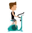 man fitness cartoon vector image vector image