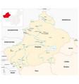 map xinjiang uygur autonomous region china vector image vector image