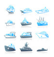 marine traffic icons - series vector image vector image