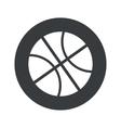 Monochrome round basketball icon vector image vector image