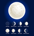 moon phases celestial space planet vector image