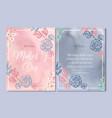 mothers day card elegant flowers line flower vector image vector image