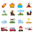 Natural Disaster Flat Icons Collection vector image vector image