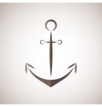 Nautical anchor two colors anchor icon vector image vector image