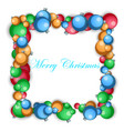 new year s ball frame vector image
