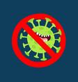 no corona virus sign graphics use vector image