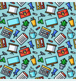 office seamless pattern vector image vector image