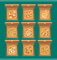 pizza box cardboard carton vector image vector image