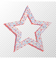 polygonal abstract image star consisting of vector image vector image