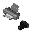 printer and photo camera vector image vector image