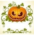 pumpkin jack vintage pattern vector image vector image