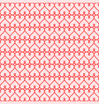 red hearts seamless background background vector image