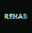 rehab concept word art vector image