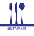 Restaurant sign vector image vector image