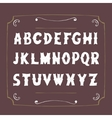 retro alphabet hand drawn letters vector image