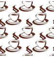 Seamless pattern of a steaming cup of coffee vector image vector image
