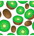 seamless texture of kiwi vector image vector image