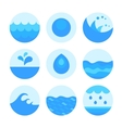 Set of abstract flat water icons vector image vector image