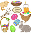 Set of colorful Easter icons vector image vector image