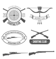 shooting club label collection elements and vector image