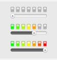 slider bar with colored level indication vector image vector image