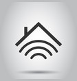 smart home icon in flat style house control on vector image