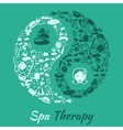 Spa therapy concept vector image vector image