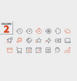 speed ui pixel perfect well-crafted thin vector image vector image
