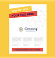star title page design for company profile annual vector image