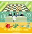 Strategic management business consulting vector image vector image