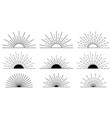 sunburst set big black collection best vector image