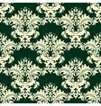 Vintage beige floral pattern vector image vector image