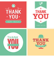 Vintage card - Thank You set vector image vector image