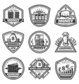 vintage monochrome money labels set vector image vector image