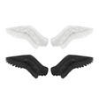 white and black wings angel and demon wings birds vector image