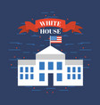 white house usa related image vector image