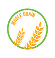 whole grain logo template icon design vector image vector image