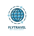 World travel symbol airplane vector image vector image
