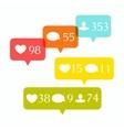 Social media buttons set vector image