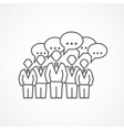 Business meeting icon vector image