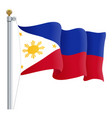 waving philippines flag isolated on a white vector image