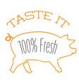 bbq taste it 100 fresh image vector image