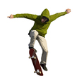 Skateboarder doing a jumping trick vector image