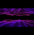 3d glowing digital wave particles futuristic hud vector image vector image