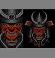 a a samurai robot vector image vector image