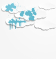 Abstract background with paper clouds vector image vector image