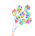 abstract colorful bunch balloons vector image vector image
