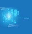 abstract technology blue hexagon geometric light vector image