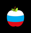 apple russia flag russian national fruit vector image vector image